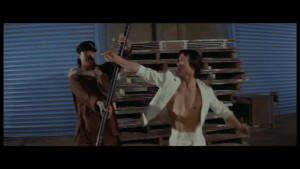 Ti Lung gets to show his skill with the short pole