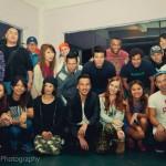 With film crew