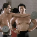 Nick and Shingo in training