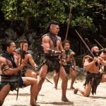 Te Kohe Tuhaka does the Maori Haka dance