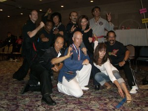 Team WHKD Malia with Eric Lee, Christian Wulf, Karen Sheperd, friends and founder GM Al Dacascos