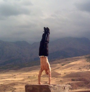 Aziz textbook handstand in ancient lands