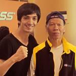 5. Aziz with martial movie legend Bolo Yeung