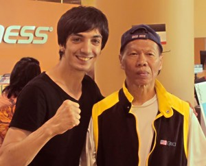 Aziz with martial movie legend Bolo Yeung!