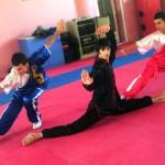 8. Aziz wu shu in the gym