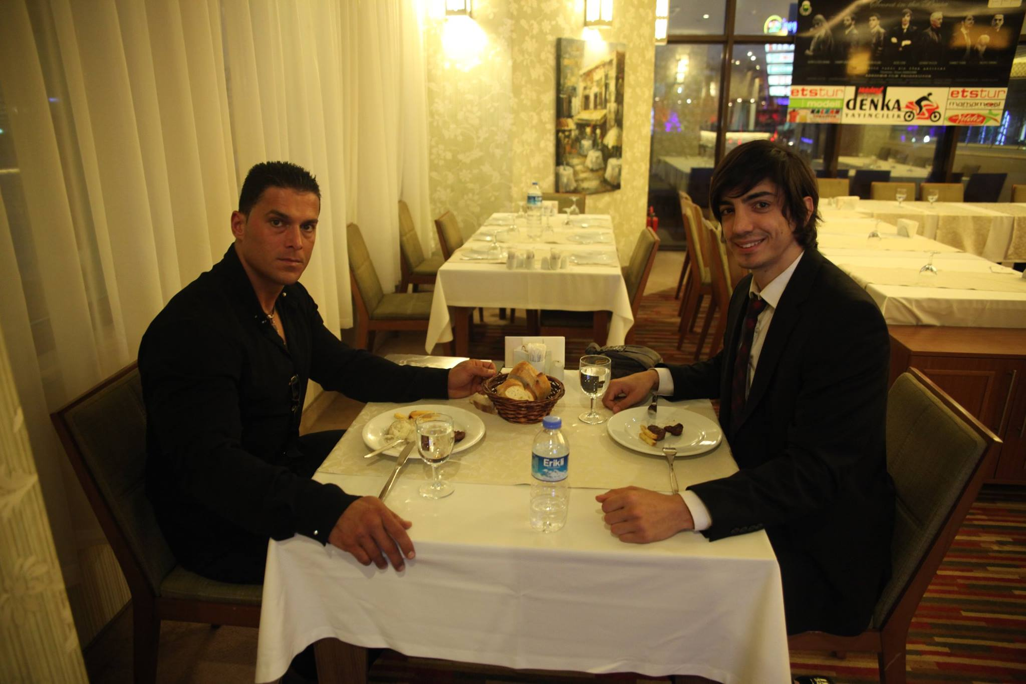 With Silvio at lunch in Turkey