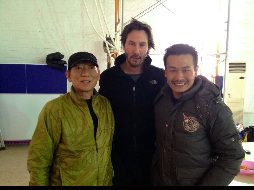 With Yuen Woo-ping and Keanu Reeves - Ocean has some amazing friends!