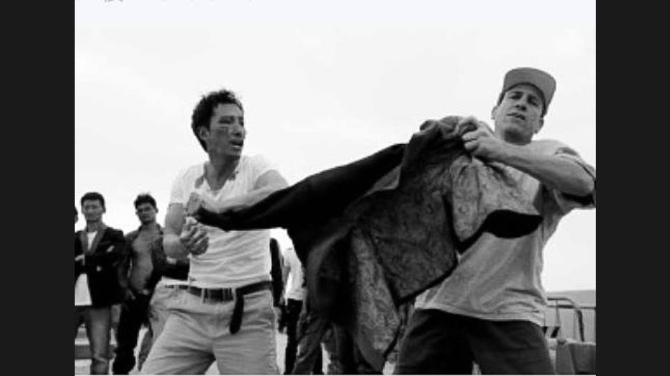 John and Donnie Yen behind the scenes of Special ID