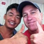 8. John with Wang Bao qiang on the set of Kung Fu Killer