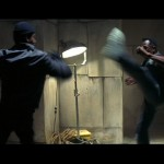 Blade engages his foe in a Capoeira duel