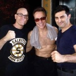 John alongside Jean Claude Van Damme and MMA fighter Nick Patterson
