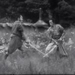 Kyuzo shows off his swordsmanship