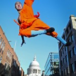 Shaolin monk goes airborne in London