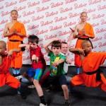 Shaolin monks with Glen kids