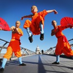 Young Shaolin performers in London