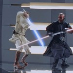 Darth Maul watches his back