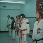 Lining in up with Bill Wallace Dave Hebler and Red West