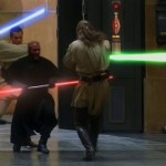 Parks training in 2 and 3 person routines was perfect for his final lightsaber battle