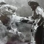 Vic lands a kick