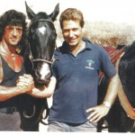 With Sylvester Stallone in Rambo III