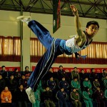 The Butterfly Kick captured in the Sammo Hung film Wushu