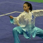 Wushu tournaments also include Taijiquan or Tai Chi routines