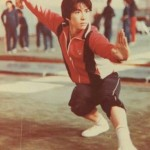 Young Donnie Yen training with the Beijing Wushu Team