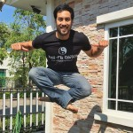 Kazu jumps for joy in his KFK shirt get yours now