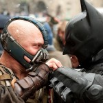 Batman pits his might against the fearsome Bane