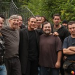 Ernie on the set of Assassination Games with Jean Claude Scott Adkins and crew