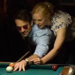 Karen shoots some pool with Matt