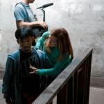 Kellie with Cecep Arif Rahman on the set of The Gate