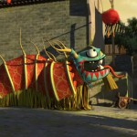 Using a centipede for traditional Chinese lion dance
