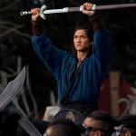 Wei Fang readies himself