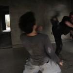 A kicking duel