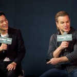 Andy promoting his upcoming film The Great Wall with Matt Damon