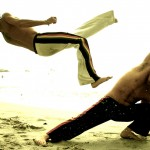Capoeira trains for both high and low attacks