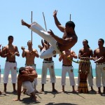 Capoeiristas show off what they can do
