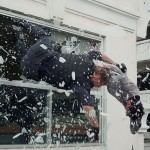 Dean and Ron in a shower of broken glass