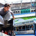 Dean using very cool parkour skills