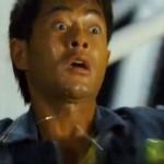 Louis Koo looks genuinely terrified on the Ferris Wheel