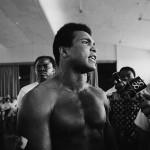 Muhammad Ali giving interviews