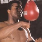 Muhammad Ali on the speedbag