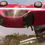 The story concludes with a spectacular vehicle stunt
