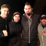 Larnell on the set of Kickboxer Vengeance
