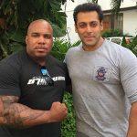 Larnell with Indias finest Salman Khan