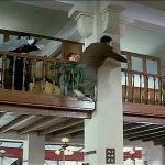 To evade capture Jackie skips along a balcony rail