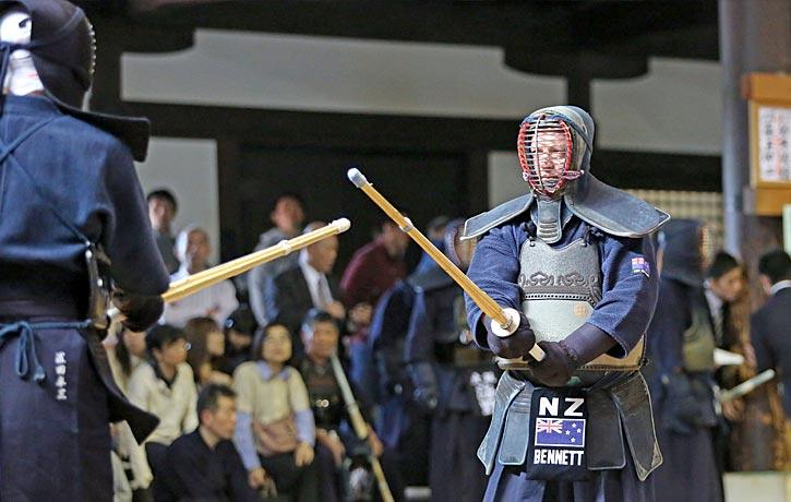Alex on guard at the 2014 Kyoto Taikai