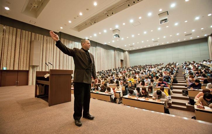 Lecturing at Kansai University