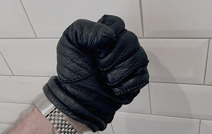 Lenny designed padded gloves to protect his bouncers knuckles